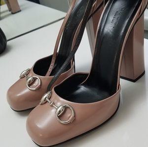 Gucci Mary Jane block heels size 39